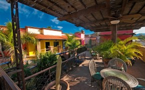 The upper sitting area at our mexico Eco Resort La Posada del Rio Sonora